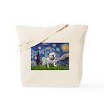 Starry Night English Bulldog Tote Bag