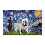 Starry Night English Bulldog Sticker (Rectangle)