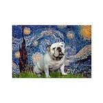 Starry Night English Bulldog Rectangle Magnet (10