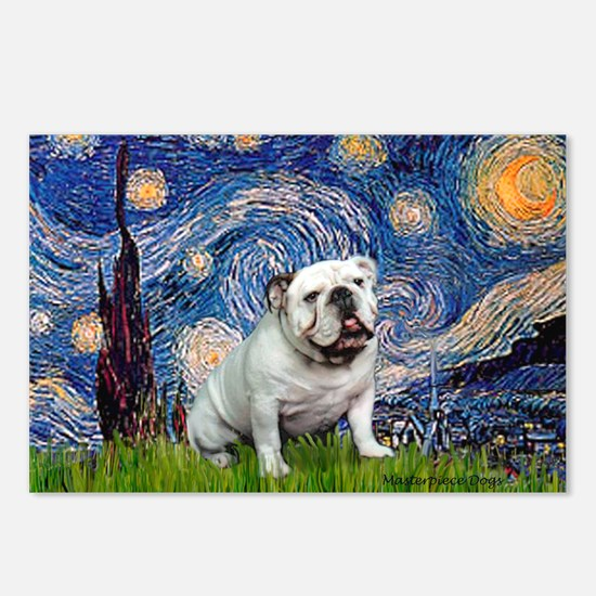 Starry Night English Bulldog Postcards (Package of