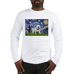 Starry Night English Bulldog Long Sleeve T-Shirt