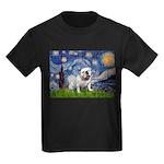Starry Night English Bulldog Kids Dark T-Shirt