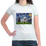 Starry Night English Bulldog Jr. Ringer T-Shirt