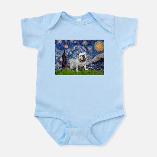 Starry Night English Bulldog Infant Bodysuit
