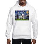 Starry Night English Bulldog Hooded Sweatshirt