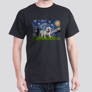 Starry Night English Bulldog Dark T-Shirt