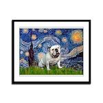 Starry Night English Bulldog Framed Panel Print