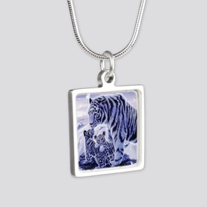 White Tigress And Her Cubs Necklaces