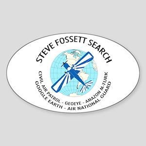 """""""Steve Fossett Search"""" Oval Sticker"""