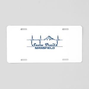 Snow Trails Ski Resort - Aluminum License Plate