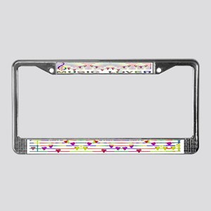 GLBT / LGBT - Music Lover - License Plate Frame