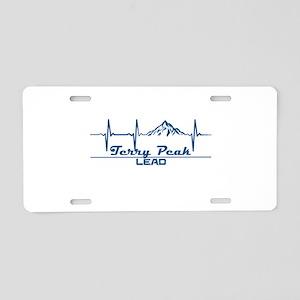 Terry Peak - Lead - South Aluminum License Plate