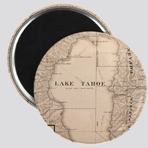 Vintage Map of Lake Tahoe Calfornia (1874) Magnets