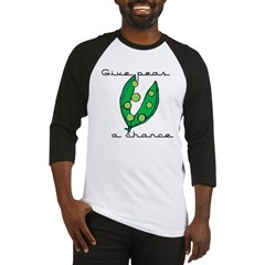 Give peas (peace) a chance Baseball Jersey