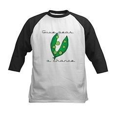 Give peas (peace) a chance Kids Baseball Jersey