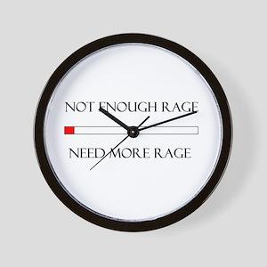 Not Enough Rage Wall Clock