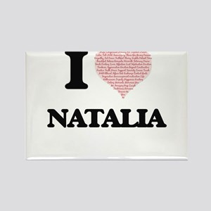I love Natalia (heart made from words) des Magnets