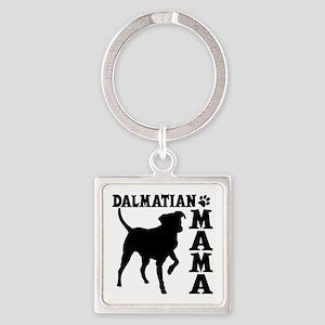 DALMATIAN MAMA Square Keychain