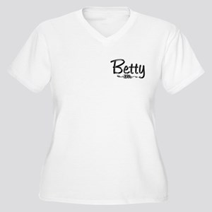 Betty Women's Plus Size V-Neck T-Shirt