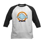 Kids Baseball Jersey - blue dolphin