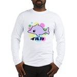 Long Sleeve T-Shirt - dolphin bubbles