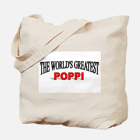 """The World's Greatest Poppi"" Tote Bag"
