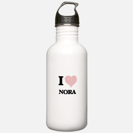 I love Nora (heart mad Water Bottle