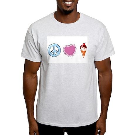 Peace Life Ice Cream Light T-Shirt