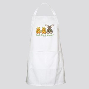 Funny Duck Duck Moose BBQ Apron