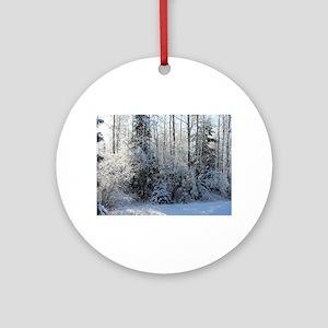 Deep Woods Winter Glow Round Ornament