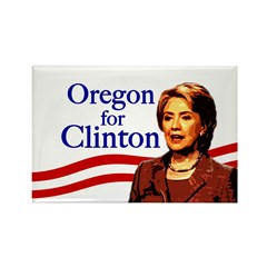 Oregon for Clinton Rectangle Magnet