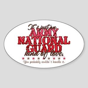 ARNG Kinda Love Oval Sticker