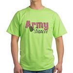 Army Fiancee Green T-Shirt