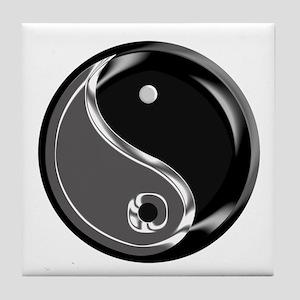 Yin Yang for balance. Tile Coaster