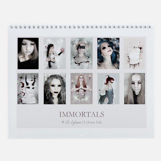 Immortals By Sj Lykana Wall Calendar