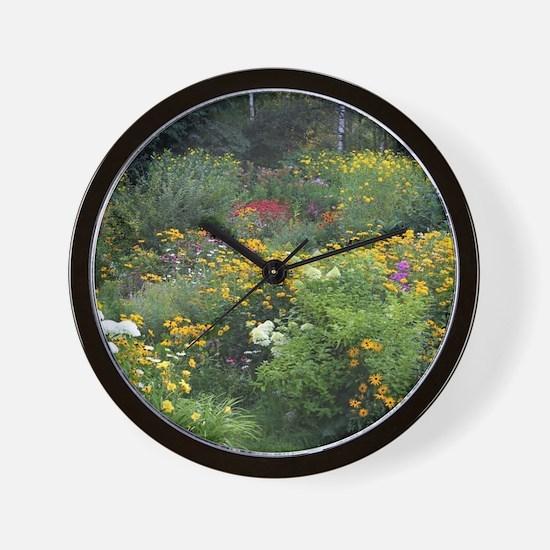 Secret Cottage Gardens Wall Clock