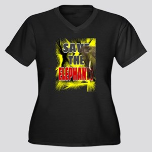 Save The Elephants Plus Size T-Shirt