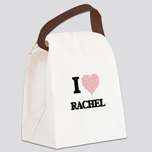 I love Rachel (heart made from wo Canvas Lunch Bag