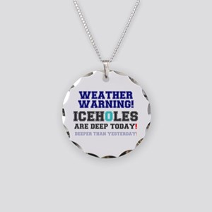 WEATHER WARNING - ICEHOLES A Necklace Circle Charm