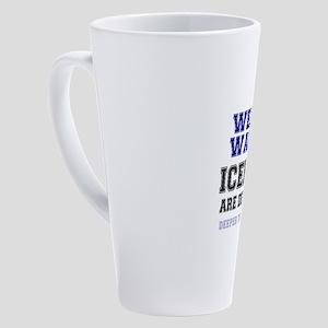 WEATHER WARNING - ICEHOLES ARE CHE 17 oz Latte Mug