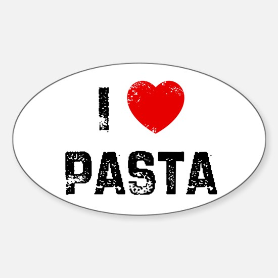 I * Pasta Oval Decal