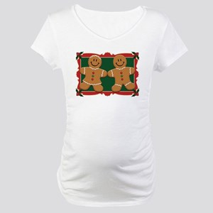 Gingerbread Couple Maternity T-Shirt