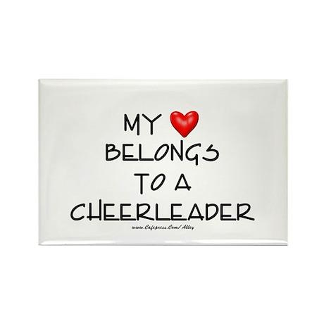 Cheerleader Love Rectangle Magnet (10 pack)