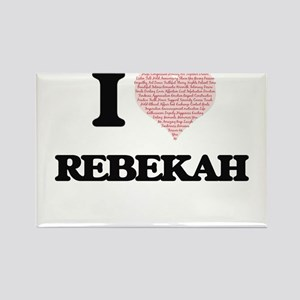 I love Rebekah (heart made from words) des Magnets
