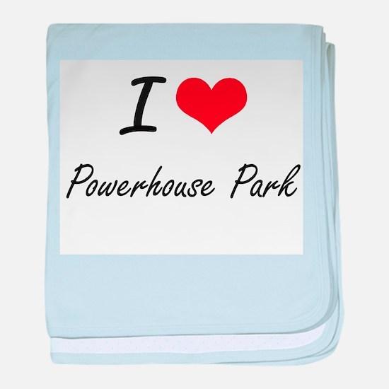 I love Powerhouse Park California ar baby blanket