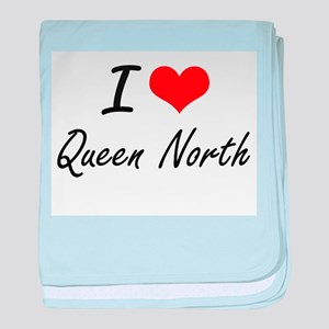 I love Queen North New Jersey artist baby blanket