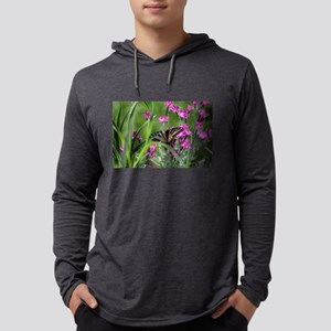 Swallowtail on Pink Dianthus Long Sleeve T-Shirt