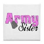 Army Sister Tile Coaster