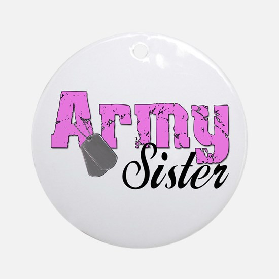 Army Sister Ornament (Round)