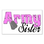 Army Sister Rectangle Sticker